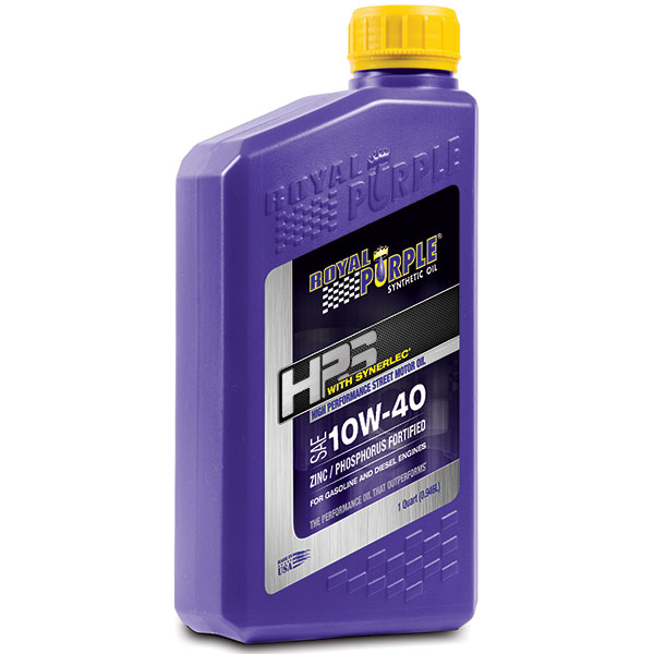 Image of Royal Purple Hps 10W-40 Heavy Duty Street Synthetic Motor Oil With Synerlec - 1 Quart