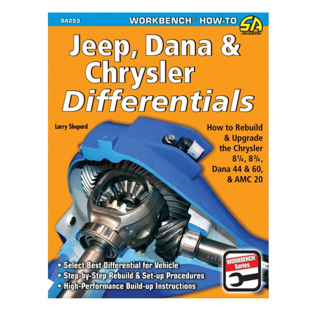 Fits: Universal Description: The Cartech Jeep, Dana & Chrysler Differentials: How To Rebuild The 8.25, 8.75, Dana 44 & 60 & Amc 20 Manual Discusses The Disassembly, Inspection And Step-By-Step Rebuild Of The Most Popular High-Performance Differentials. Extensive Gear And Application Charts Are Helpful In Selecting The Correct Gear Ratio For A Particular Vehicle And Application. Special Coverage Is Therefore Dedicated To Ring And Pinion Gears. In Addition Selecting The Best Aftermarket And Production Axle Shafts As Well As Modifying And Upgrading The Differential Housings Are Discussed. Product Details: Pages: 176 Size: 8.5 X 11 (Inches) Format: Paperback Illustrations: 464 Color/illustrations Photos Publisher: Cartech Isbn: 9781613250495 Pa