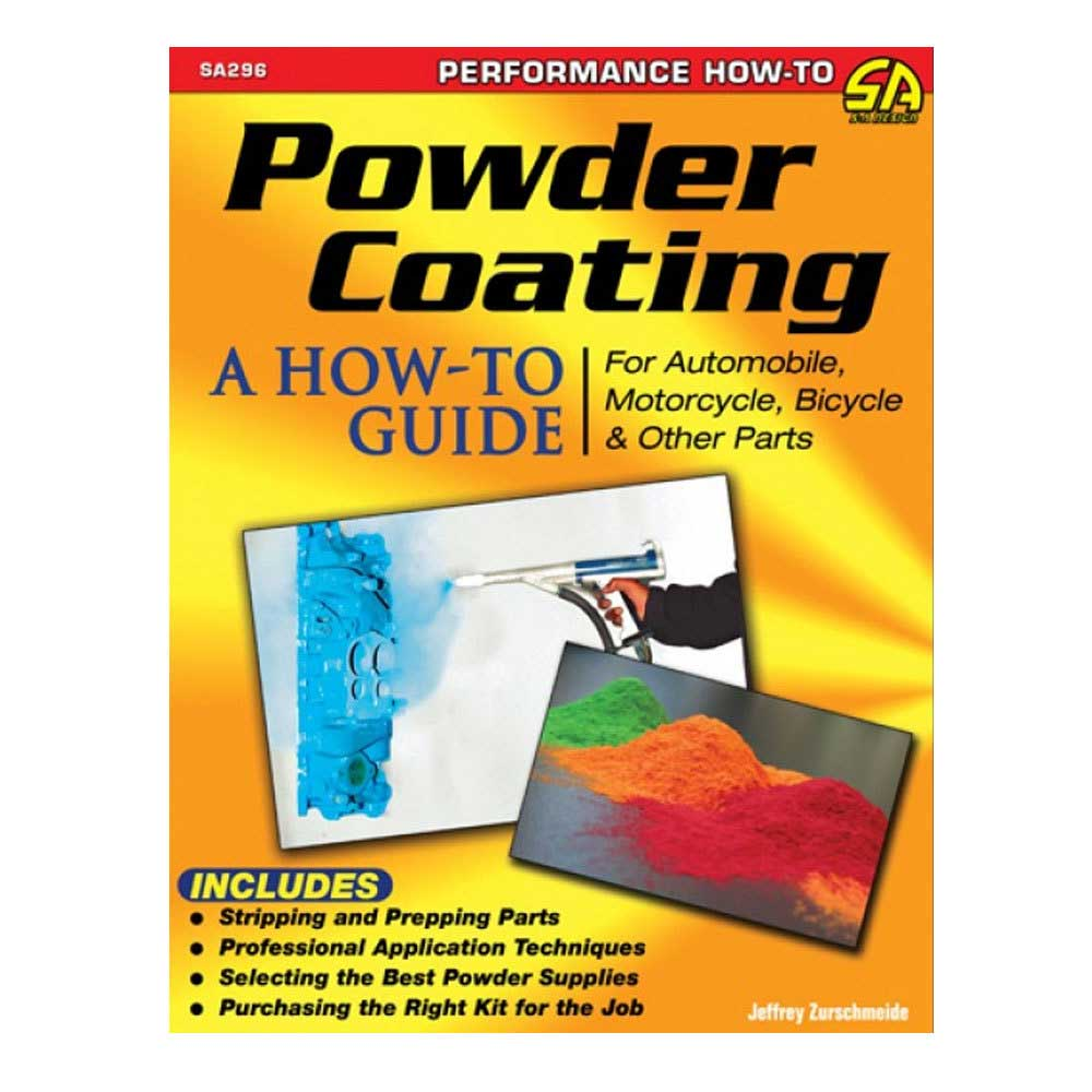 Fits: Universal Description: This Cartech How-To Manual Discusses All Of The Equipment, Supplies And Popular Kits Required For Powder Coating Parts. In Addition, It Shows How To Properly Clean The Part (Which Includes Chemical Strippers, Wire Brushes, Media Blasting, And Sanding Media), Spray With A Media Gun, And Then Cure With Heat. The Comparisons And Contrasts Of Several Popular Kits Are Featured With An Explanation Between The Function And Performance. Product Details: Pages: 128 Size: 8.5 X 11 (Inches) Format: Paperback Illustrations: 291 Color Photos Publisher: Cartech Isbn: 9781613251423 Parts Included: (1) Cartech Manual - Powder Coating: A How-To Guide For Automotive, Motorcycle, Bicycle & Other Parts