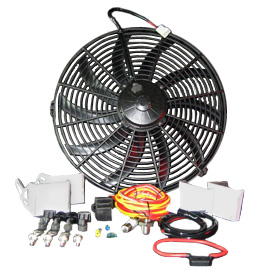 "Image of Advance Adapters 16"" Spal Electric Puller Fan Kit"