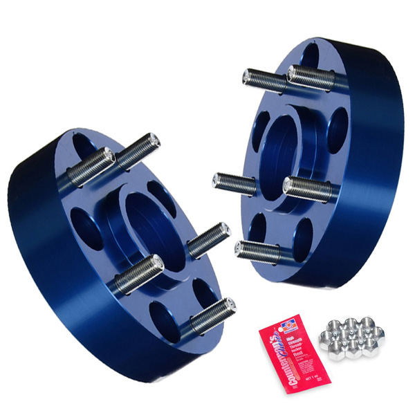 """Image of Spidertrax 1.50"""" Wheel Spacers, 6X5.5"""" Bolt Pattern, Blue Aluminum - Pair"""