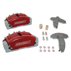 Image of Ssbc Aluminum Caliper Upgrade Kit, Tri-Power Quick Change, Red