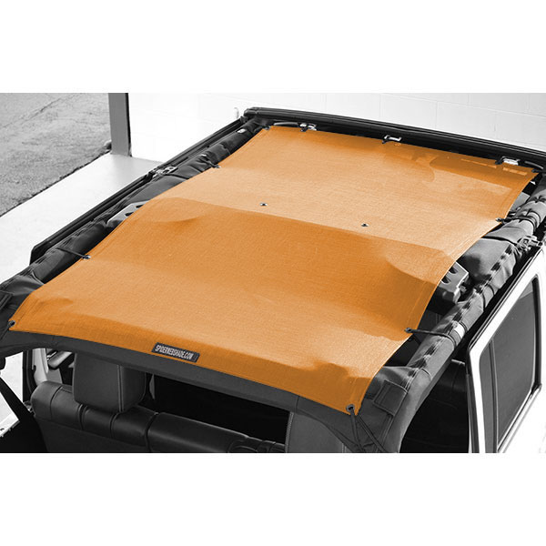 Jeep Spiderwebshade Trailmesh Shade Top, Orange 1-Piece, Exterior Car Parts | 2007-2017 Wrangler