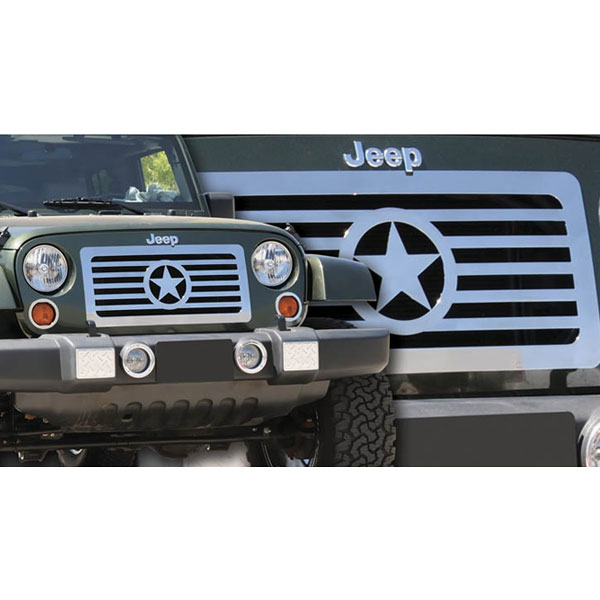 Image of T-Rex Custom Series Center Star Design Grille - Stainless Steel