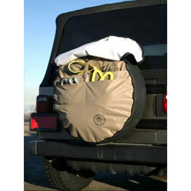 "Image of Boomerang Joey Pack Cargo 33"" Tire Cover With Tool Carrier Pockets"