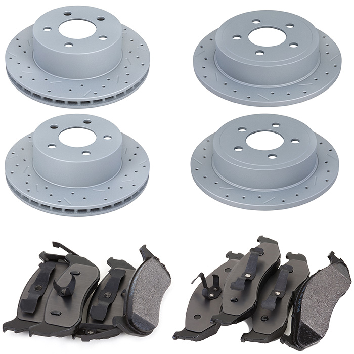 Image of Xtremestop High Performance Brake Rotor And Pad Kit - Front And Rear