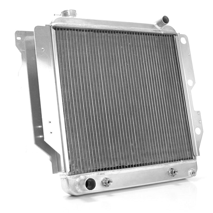 Image of Griffin High Performance Exact Fit Radiator - Aluminum Silver (For Automatic Transmission)
