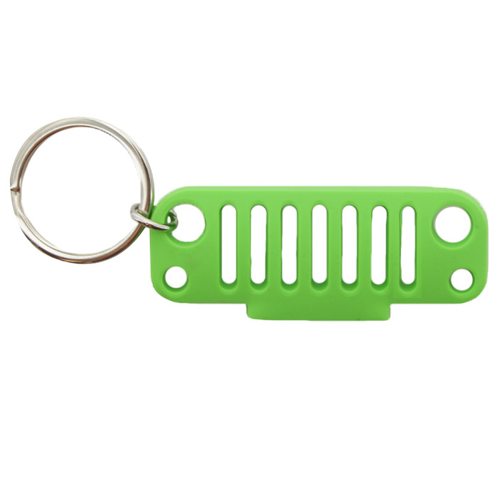 Image of Jeeplyfe Front Jk Grille Keychain, Rubber - Green