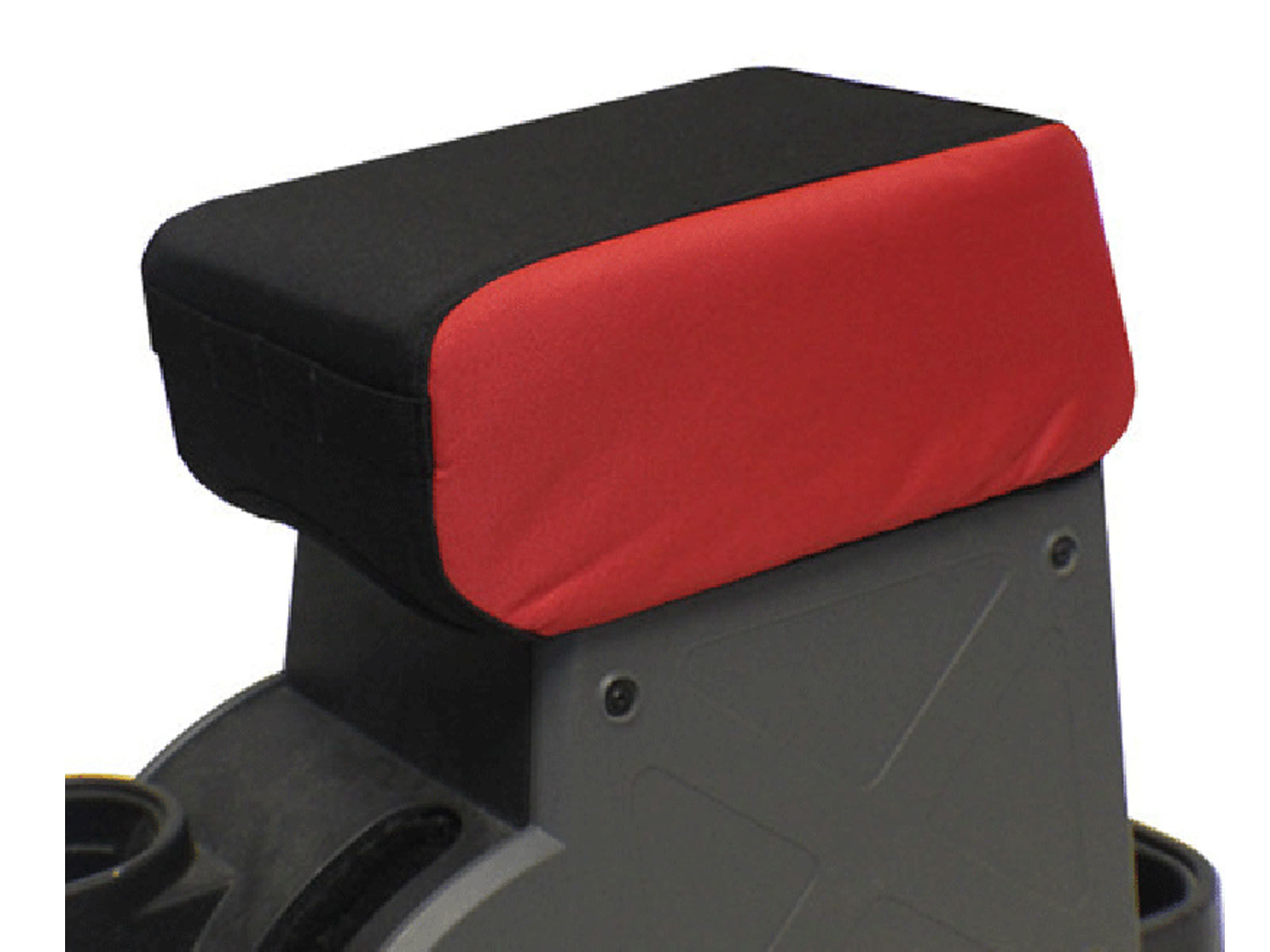 """Image of Bartact 2"""" Raised Padded Center Console Cover With Pals Webbing For Molle Attachments - Red/black"""