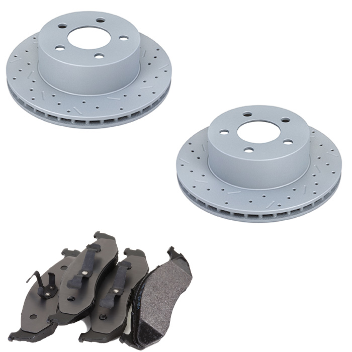 Image of Xtremestop High Performance Front Brake Rotor And Pad Kit