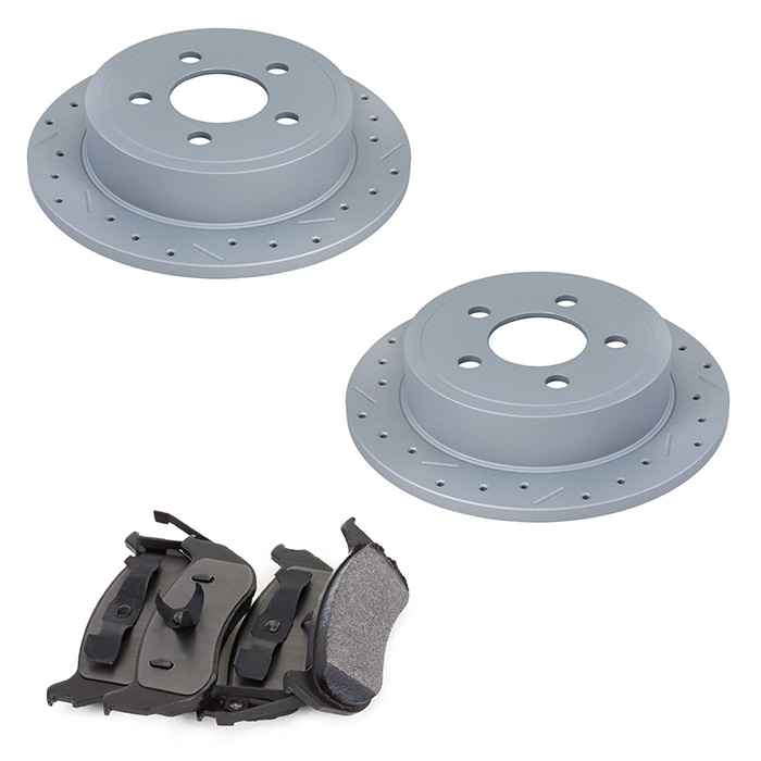 Image of Xtremestop High Performance Rear Brake Rotor And Pad Kit