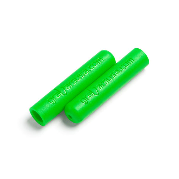 Image of Welcome Distributing Dual Layer Rubber Grabar Grips, Green - Pair