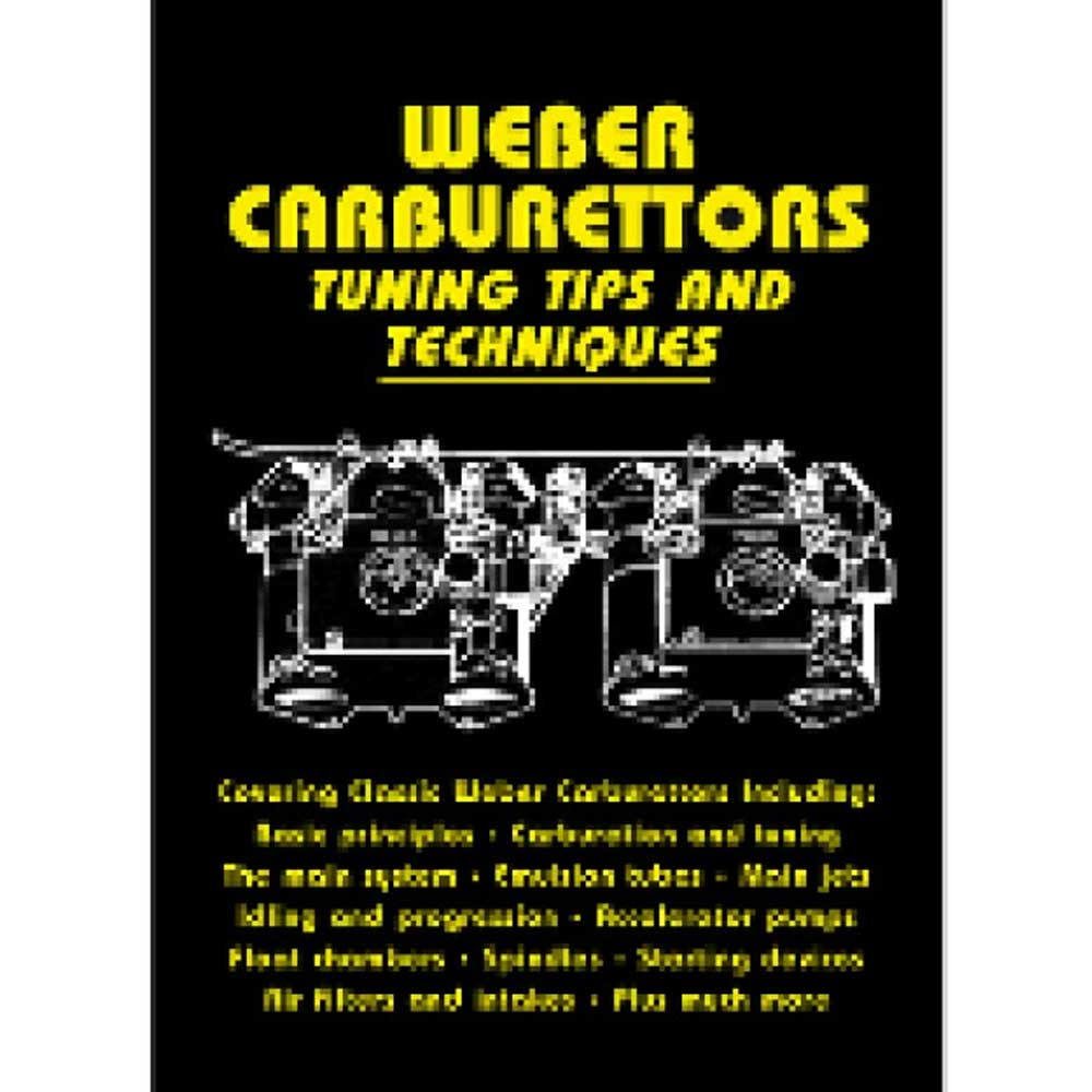 Fits: Universal Description: The Cartech Weber Carburetors Tuning Tips & Techniques Manual Explains The Setting Of The Carburetor To Suit A Particular Engine, Fault-Finding On An Existing Installation, And The Maintenance And Repair Of Older Carburetors. Product Details: Pages: 128 Size: 5.5 X 8.5 (Inches) Format: Paperback Illustrations: 200 B/w Photos Publisher: Marston Book Services, Ltd Isbn: 9781855207592 Parts Included: (1) Cartech Manual - Weber Carburetors Tuning Tips & Techniques