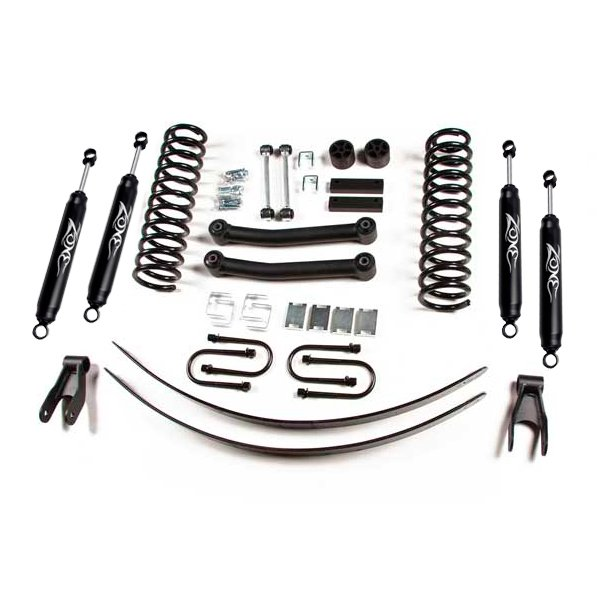 Zone Offroad 4.5 Suspension Lift Kit With Nitro Shocks And Rear Leaf Springs