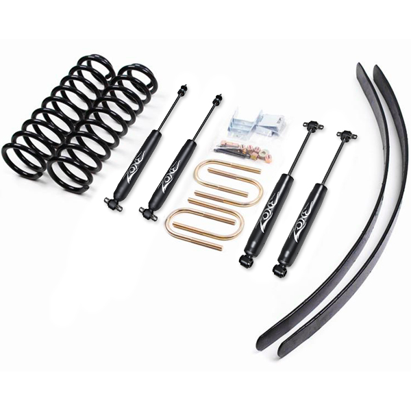 Zone Offroad 3 Suspension Lift Kit With Nitro Shocks And Rear Add-A-Leaf Springs
