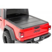 Rough Country Jeep Low Profile Hard Tri-Fold Tonneau Cover (2020 Gladiator   5' Bed)