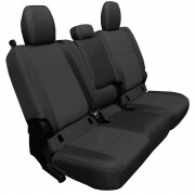 Bartact Tactical Bench Seat Cover for Gladiator JT with Fold Down Armrest - Black and Black