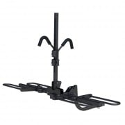 CURT Hitch-Mounted Tray-Style Bike Rack for 2 Bikes - Black Powder Coat