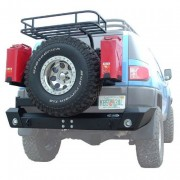 LoD Rear Bumper with Tire Carrier - Textured Black