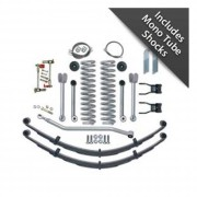 """Rubicon Express 4.5"""" Super-Flex Short Arm Suspension Lift Kit with MonoTube Shocks and Rear Leaf Springs"""