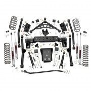 """Rough Country 4"""" X-Series Long Arm Suspension Lift Kit with Premium N3 Shocks for Jeep Grand Cherokee WJ"""