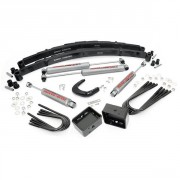 """Rough Country 4"""" Suspension Lift Kit with Premium N2.0 Series Shocks and Leaf Springs"""