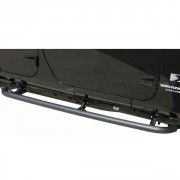 Rampage Side Bar Retractable RockerGuard Step, Textured Black