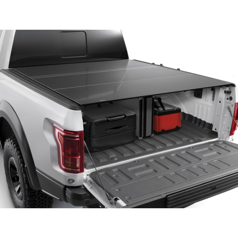Weathertech Alloycover Hard Tri Fold Pickup Truck Bed Cover For Jt Black Best Prices Reviews At Morris 4x4