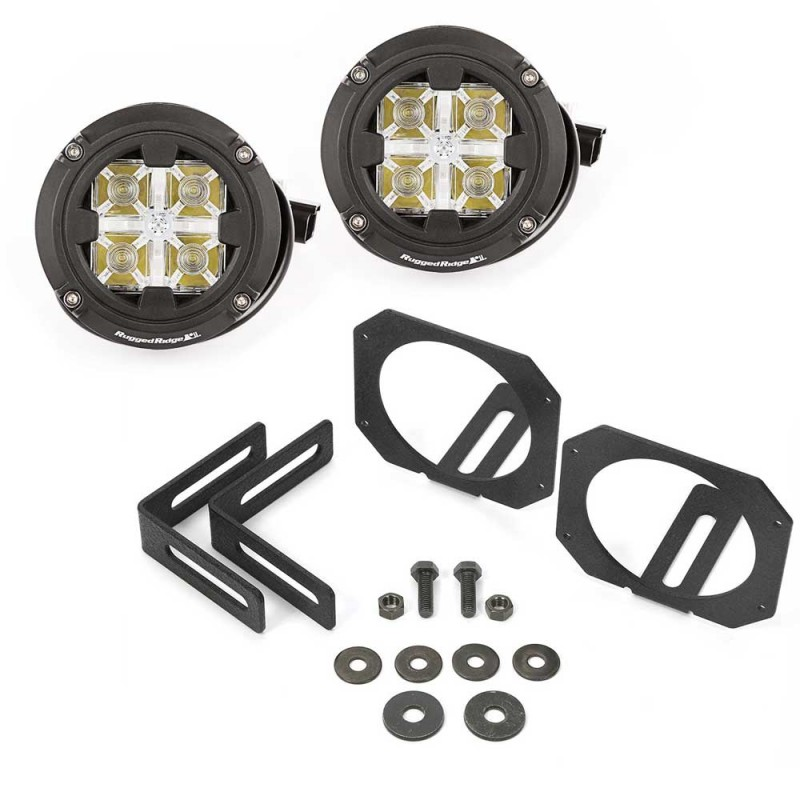 Rugged Ridge Dual Led Light Mount Kit