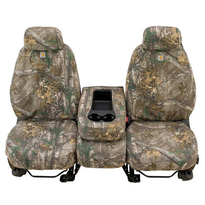 Swell Covercraft Carhartt Custom Realtree Camo Seat Covers With Adjustable Headrest Front Xtra Brown Pair Creativecarmelina Interior Chair Design Creativecarmelinacom