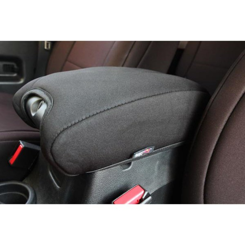 Black Center Console Armrest Pad Cover For 2011-2017 Jeep Wrangler Unlimited