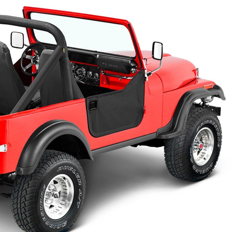 Bestop Left /& Right Lower Black Half Doors with Latches for Jeep CJ5//CJ6//M38-A1
