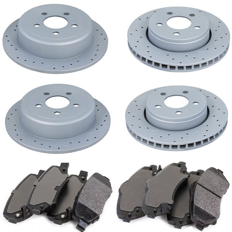 Front And Rear Brake Rotors For 2012 Jeep Liberty
