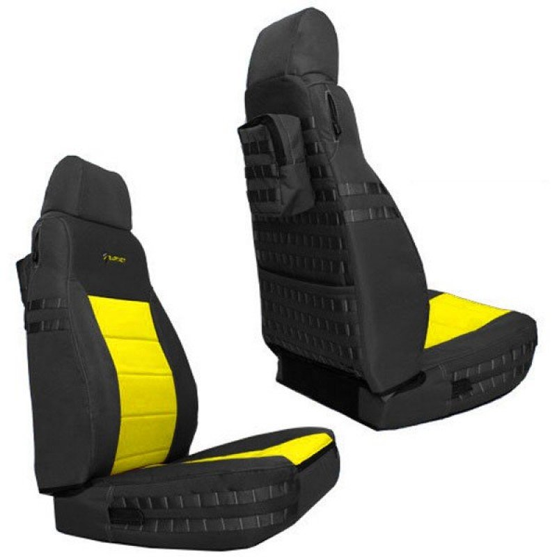 Wondrous Bartact Supreme Front Seat Covers Black And Yellow Pair Lamtechconsult Wood Chair Design Ideas Lamtechconsultcom