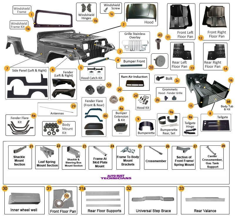 Jeep Wrangler Body Parts & Accessories|87-95 YJ|Morris 4x4 CenterMorris 4x4 Center