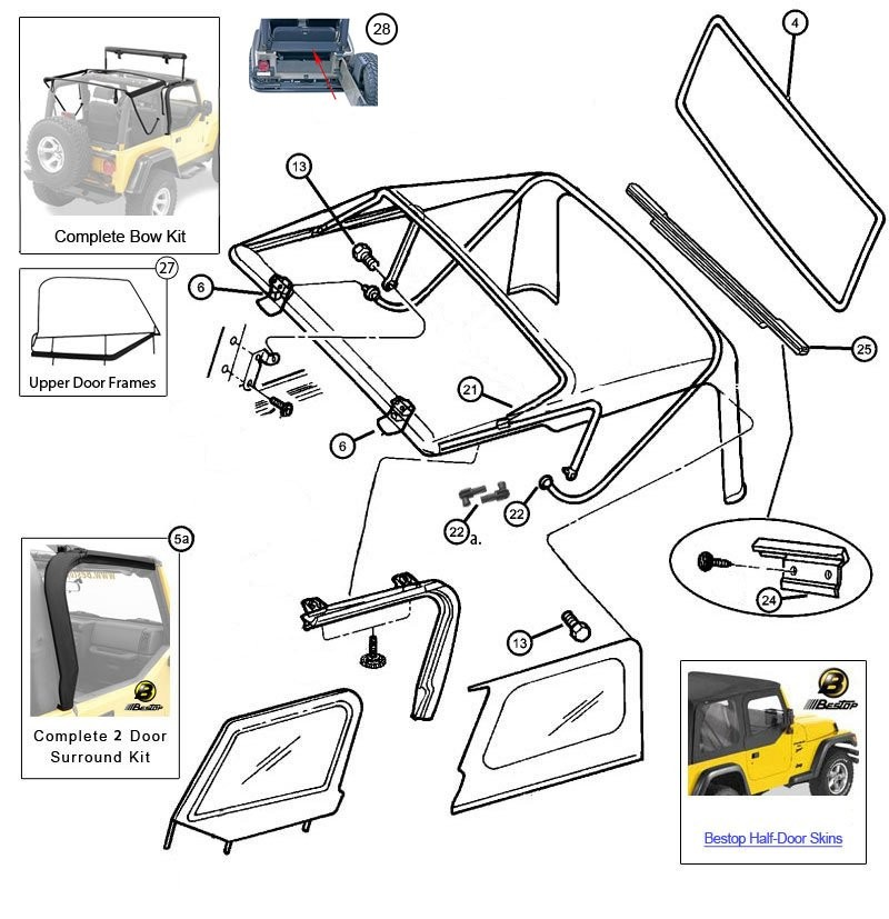 1995 jeep wrangler frame and parts diagram