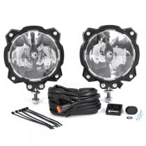 KC HiLiTES Pro6 Gravity Series LED Lights with Driving Beam, Single Mount - Pair