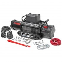 Rough Country Pro Series Winch with Hawse Fairlead and Synthetic Rope - 12000lb