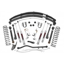 """Rough Country 4.5"""" X-Series Suspension Lift Kit with Premium N3 Shocks for Jeep Cherokee XJ"""