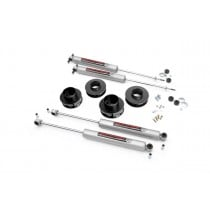 """Rough Country 2"""" Suspension Lift Kit with Premium N3 Shocks for Jeep Grand Cherokee WJ"""