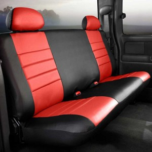 Fia SL67-18 RED Custom Fit Front Seat Cover Bucket Seats Leatherette Black w//Red Center Panel