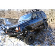 """Rough Country 4.5"""" Suspension Lift Kit with Premium N3 Series Shocks for Jeep Cherokee XJ"""