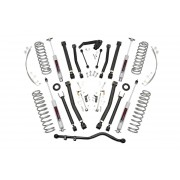 """Rough Country 4"""" X-Series Suspension Lift Kit with Premium N3 Series Shocks for Jeep Wrangler Unlimited JK"""