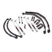 """Rough Country 4"""" Suspension Lift Kit with Premium N3 Shocks and Leaf Springs for Jeep CJ5, CJ7, CJ8 Scrambler"""