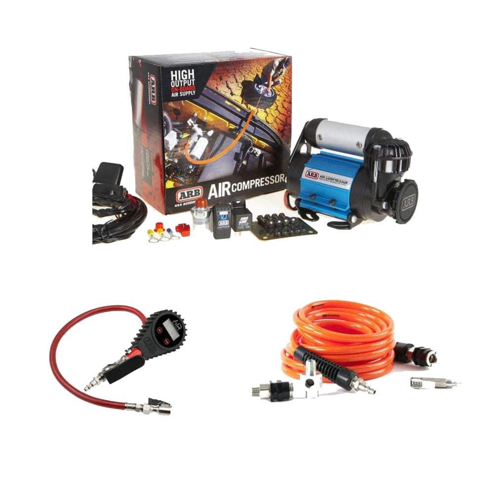 ARB On Board High Performance Air Compressor Kit, High Volume 40V with  Complete Tire Inflation and Pressure Gauge Kit