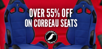 Over 55% Off on Corbeau Seats
