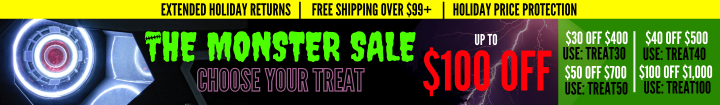 The Monster Sale - Up to $100 Off