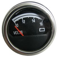 jeep knowledge center cj gauge troubleshootingvolt meter gauge gnd terminal (left) black wire (ground)