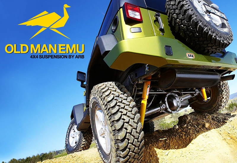 Old Man Emu parts on Jeep
