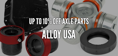 Alloy USA Axle Parts Up to 10% Off